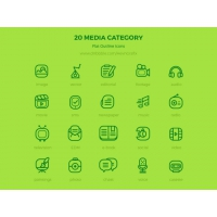20 MEDIA CATEGORY ICONS