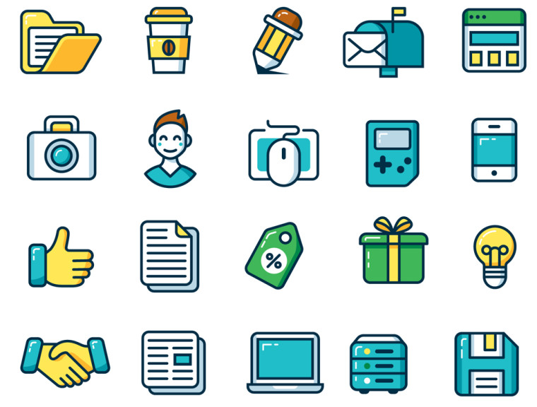 CUSTOMIZABLE OUTLINE ICONS FREEBIE