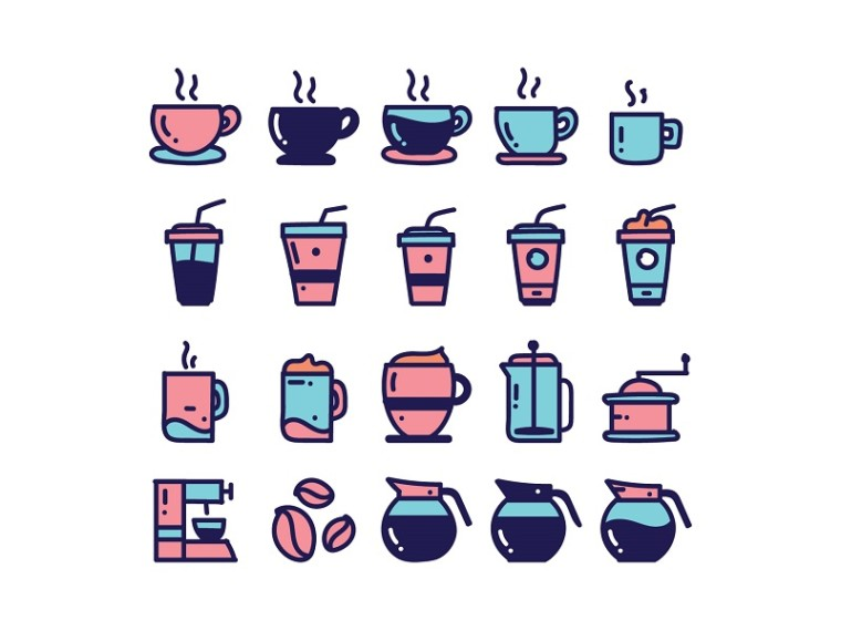 COFFEE ICONS FREEBIE