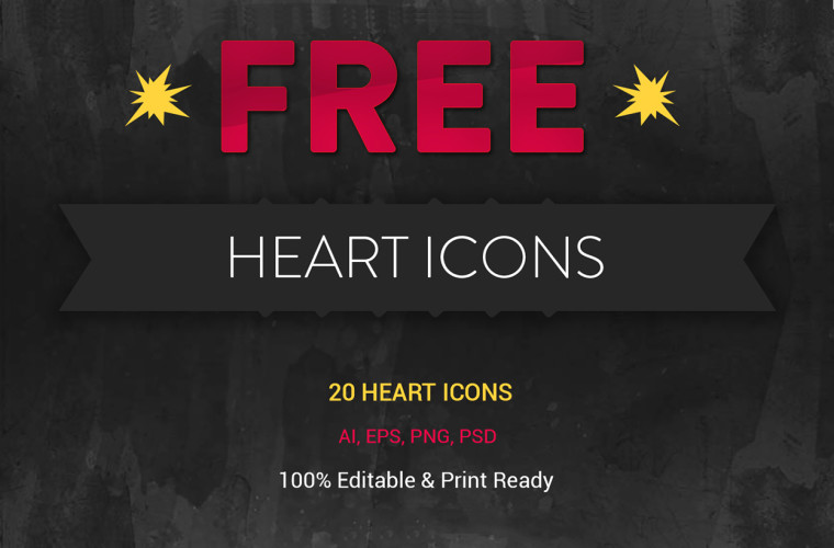 20 FREE HEART ICONS