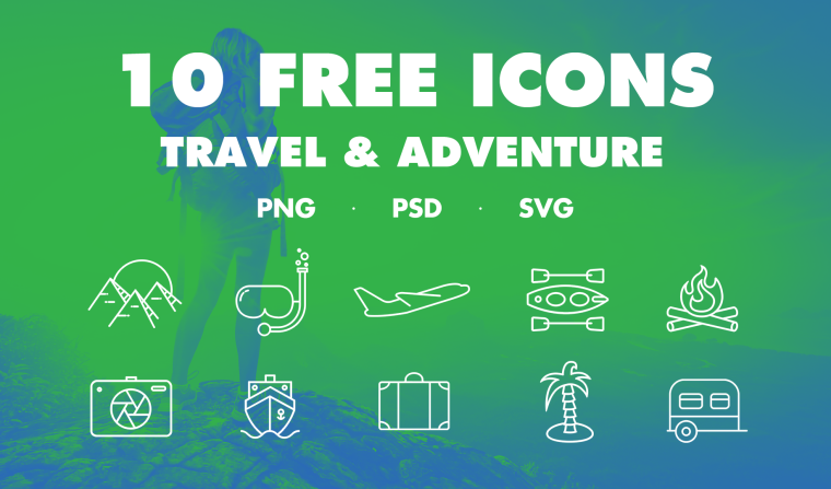 10 FREE TRAVEL ICONS