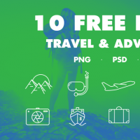 10 FREE TRAVEL ICONS
