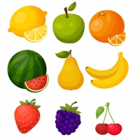 SWEET FRUIT ICONS FREEBIE