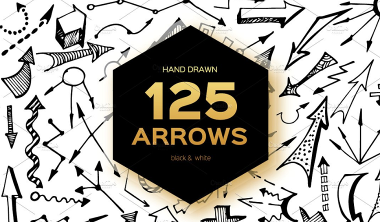 HAND DRAWN DOODLE ARROWS