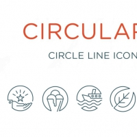 CIRCULARITY LINE ICONS SET