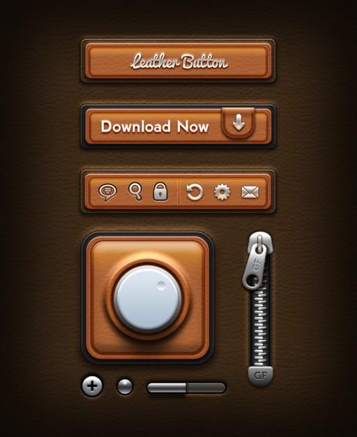 Retro Interface Design PSD