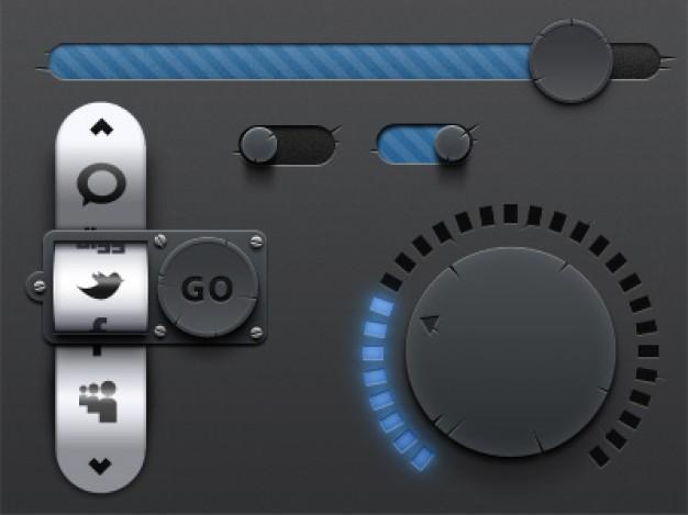 Antique UI Elements Interface Design
