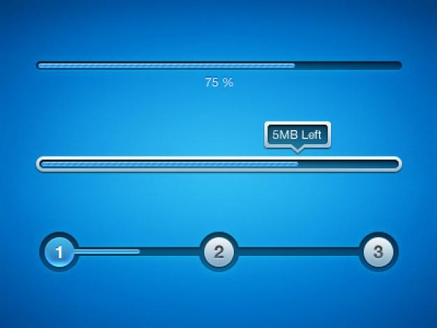 Blue Download ProgressBar PSD