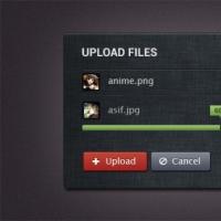 Internet upload form UI elements