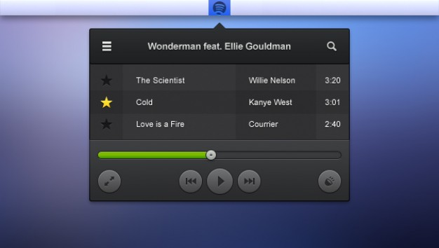 Audio Player Menu