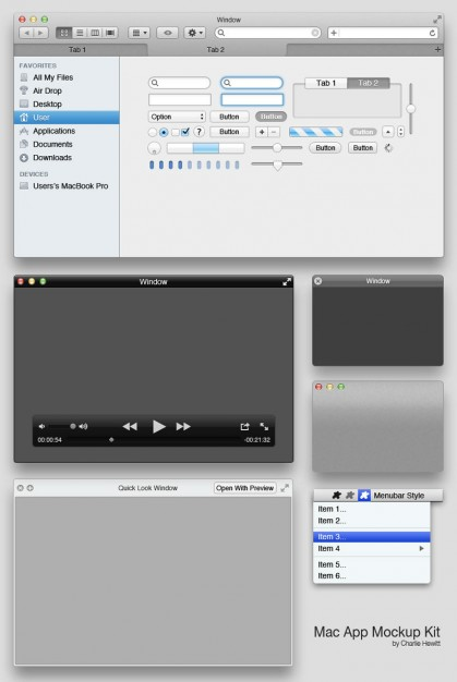 Mac App UI Elements