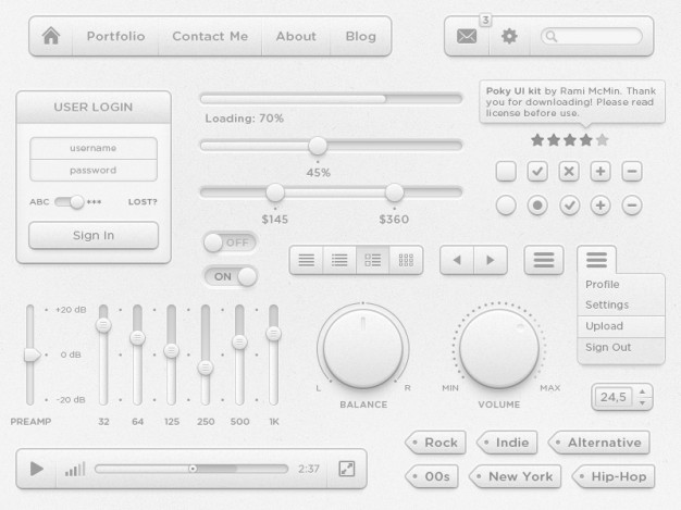 Сomplete UI Elements With White Interface