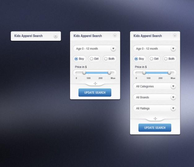 Modern Apparel Search Interface