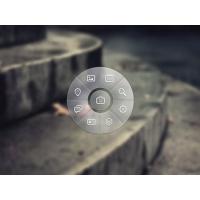 Transparent Circular Menu Interface PSD