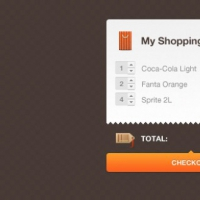 Orange Shopping Settlement Interface Design