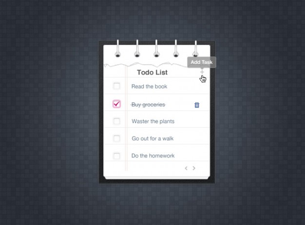 To Do List Simple Design Psd
