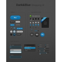 Simple Dark&Blue Shopping Icons