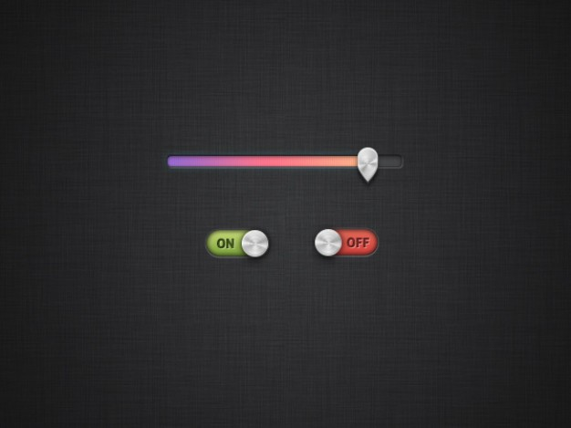 Colorful Progress Bar With Slide Switch