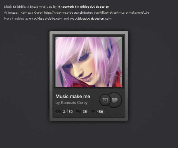 Music Wishlists Interface With Beautiful Girl