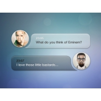 Message Box With Avatar PSD