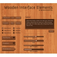 Psd UI Elements Wooden