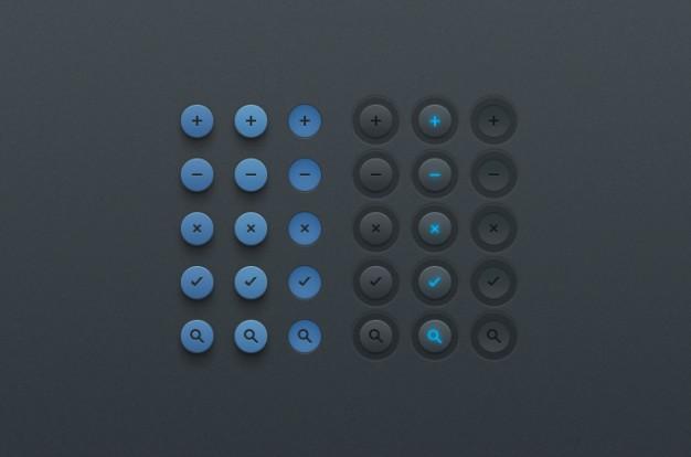Button Clean  UI