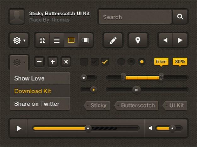 Sticky Butterscotch kit Free Psd