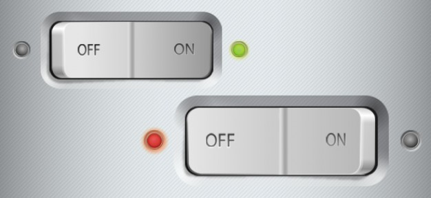 Metallic Switch Buttons UI