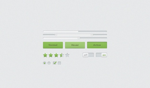 Buttons kit Sliders UI Wpnature