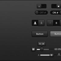 Buttons Dark Grey
