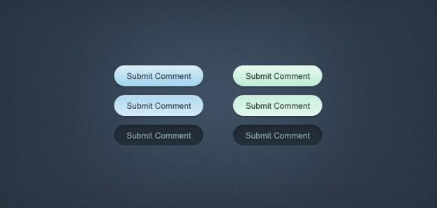 Minty-Fresh Web Buttons (PSD)