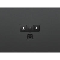 Black Tooltip Menu PSD Material