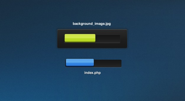 Progress Bars In Yellow And Blue