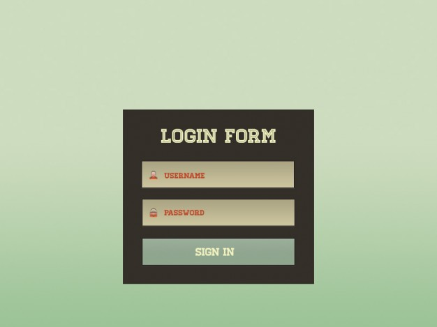 Login Screen PSD Material