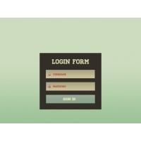 Login Screen PSD Material