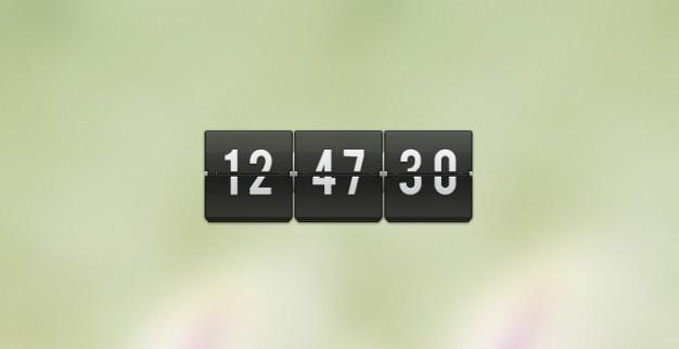 Flip Clock Psd Transparent
