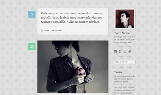 Free Tumblr Theme PSD - Lambda