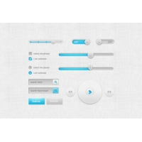 Cool UI kit PSD Material