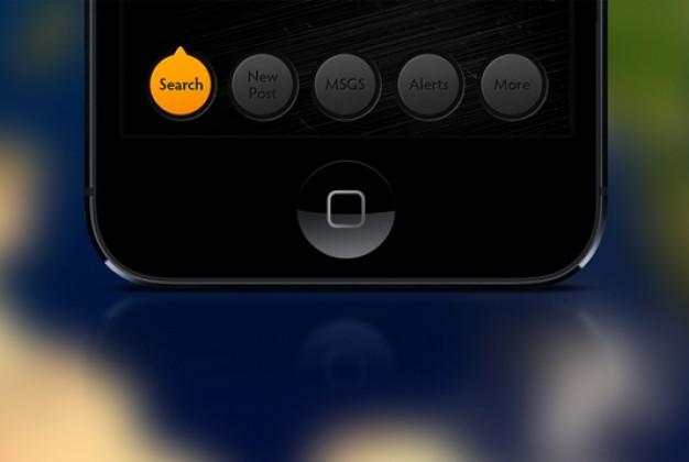 IOS Menu Buttons PSD Material