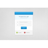 Clean Login Screen PSD Material