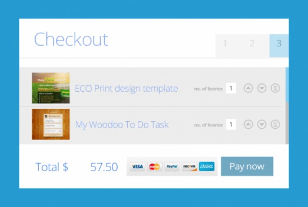 Flat Metro Checkout Design