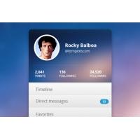 Rocky Balboa Twitter Widget