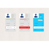 Three Profile Box Psd Templates