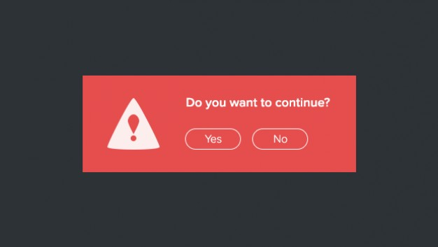 Red Modal Screen PSD Template