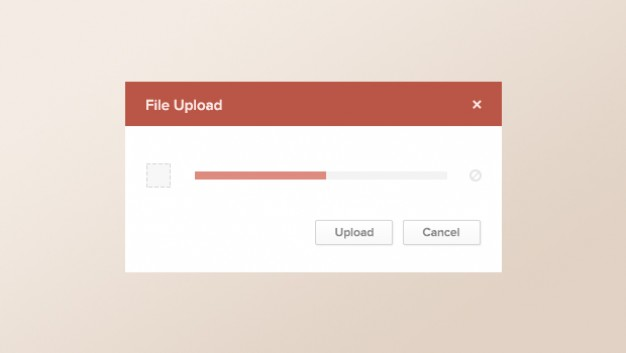 Modern Upload Screen PSD Template
