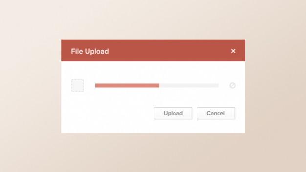 Modern Upload Screen PSD Template
