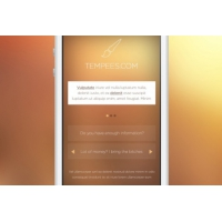 Mobile Front Screen With Text Block
