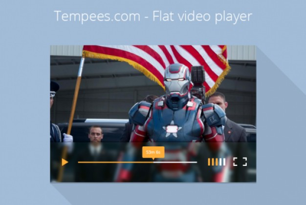 Simple Video Player Flat Design