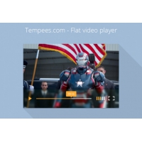 Simple Video Player Flat Design