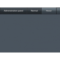 Menu Bar With Gloss Effect PSD